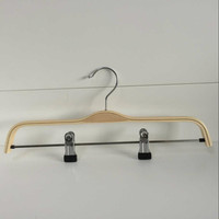 Unique luxury branded wooden suit hanger with clips