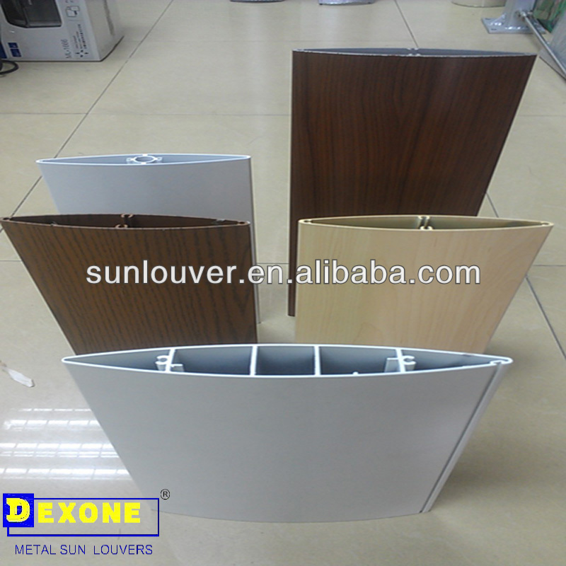 Aerofoil Louver,Aluminum Extrusion Section With Olive Shape Used ...