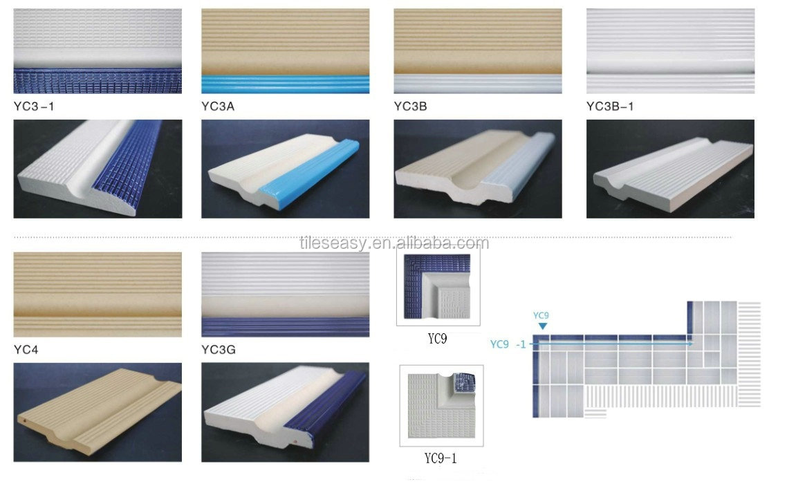 China factory swimming pool finger grip pool coping tile, View swimming  pool finger grip coping tile, Taotao Product Details from Foshan Tileeasy  ...