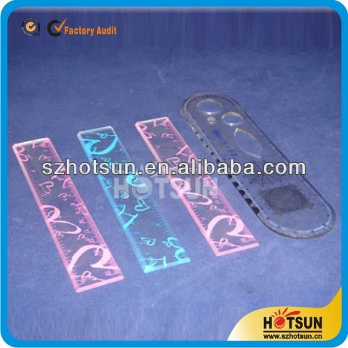 Colored acrylic patchwork ruler