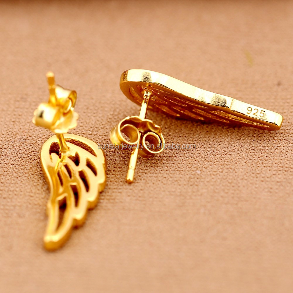 Simple Gold Earring Designs For Women Small Gold Earrings Openwork ...