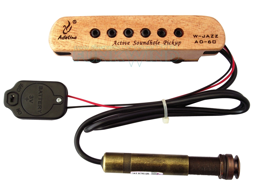 acoustic guitar single coil active soundhole pickup for steel stringed great sound easy to. Black Bedroom Furniture Sets. Home Design Ideas