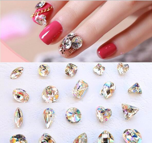 Newest Nail Care Products Crystal 3D Alloy Nail art Jewelry For Nail Decoration