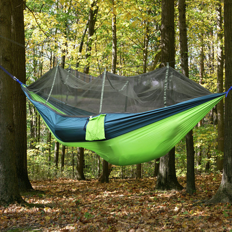 2 Person Outdoor Mosquito Net Parachute Hammock Camping
