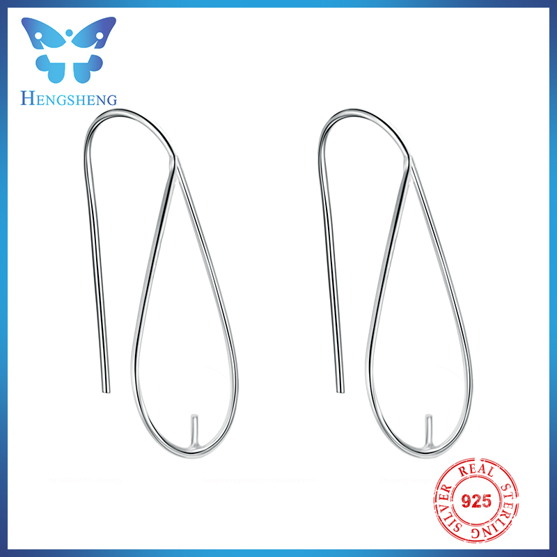 Hengsheng wholesale water drop silver earring hooks finding