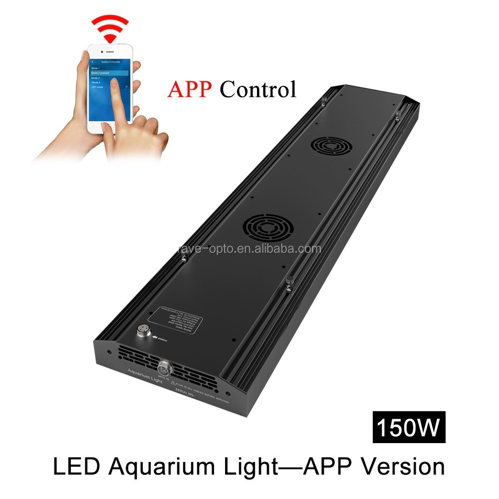 Android Phone Wifi Control Led Aquarium Light S150 Total Dimmabel ...