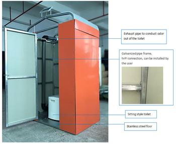 Hi Tech Dry Flush Portable Toilet Bowl
