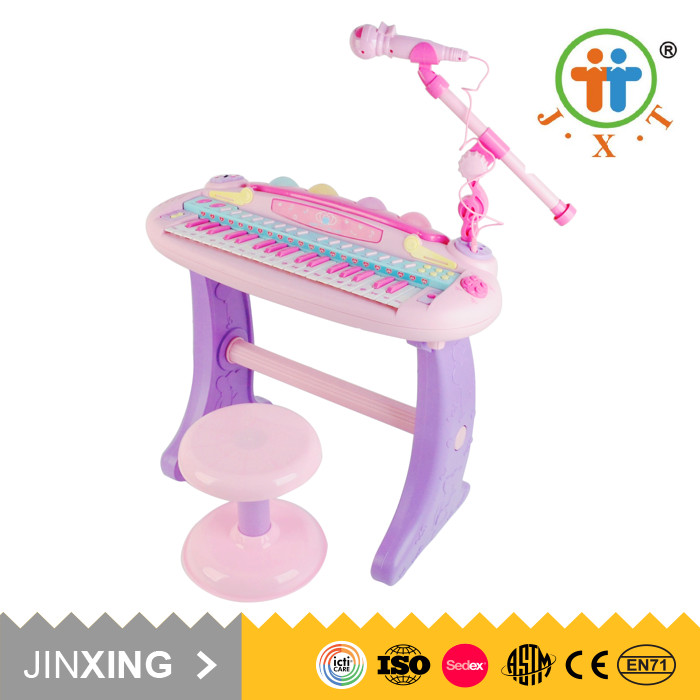 New girls pretend musical electronic toy keyboard piano with microphone