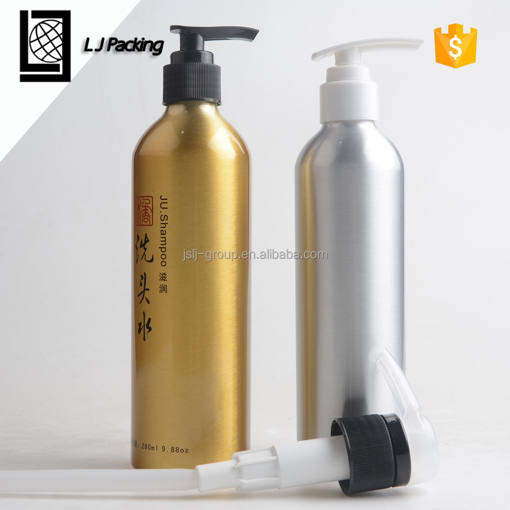 round shoulder aluminum shampoo bottle