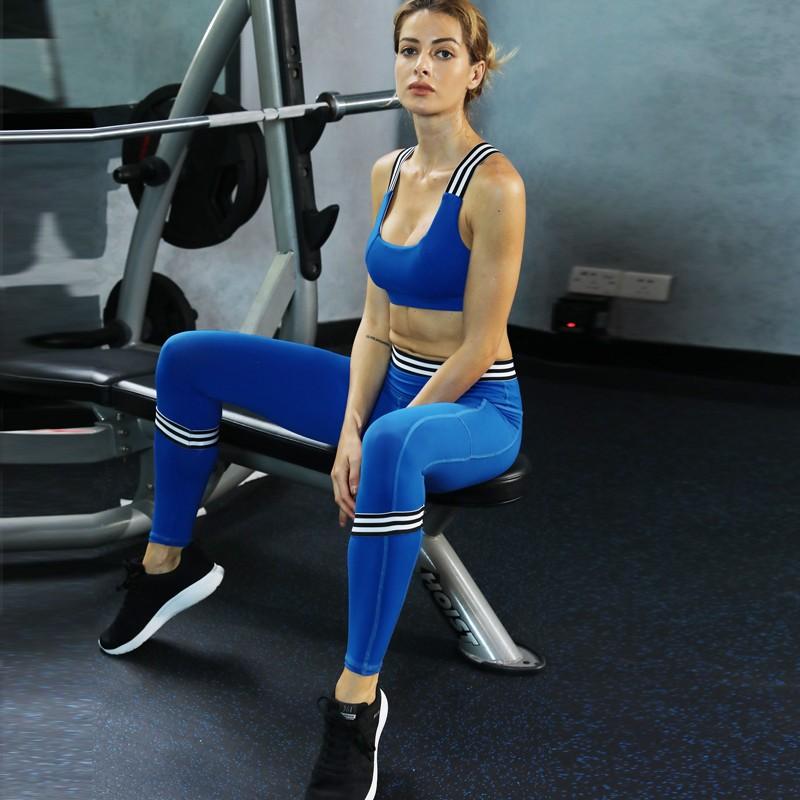 9541de487 Zc1842 Wholesale Oem Factory Women Workout Clothes Blue Girls Yoga ...