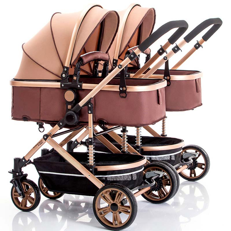 New popular twins baby stroller baby stroller + car seat + carry cot factory cheap price supply