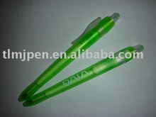 Cheap promotion gifts plastic plastic ball pen+highlighter pen