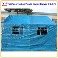 100% WATERPROOF PVC COATED FABRIC RELIEF TENT