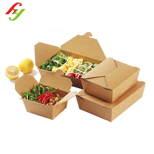 Food grade packaging box, take out fruit containers,takeaway food disposable kraft paper boxes