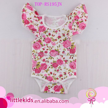 85a77676015 Baby Girls Cute Crochet Flying Sleeves Allover Floral Print Rompers Tamil Girl  Baby Names Cotton One