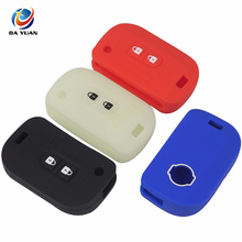 AS072010 2 Buttons Remote Silicone Car Key Cover Case For Nissan Folding Key