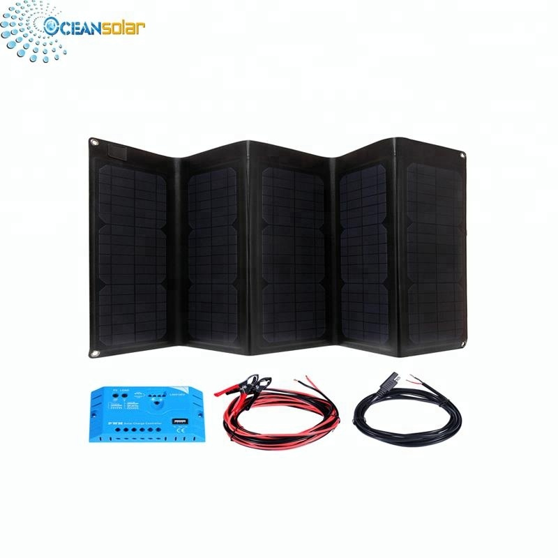Outdoor solar charger foldable solar panel OS-OP505 50W high efficient for laptop table PC computer charge