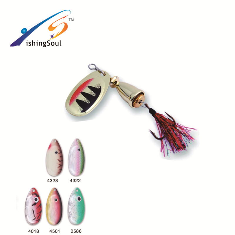 SPL020 Hot sales fishing tackle artificial metal bait fishing spinner bait