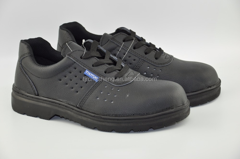 Certificated Labour Shoes in Stock /Emboss Cow Split Leather Industrial Steel Toes Safety Shoes