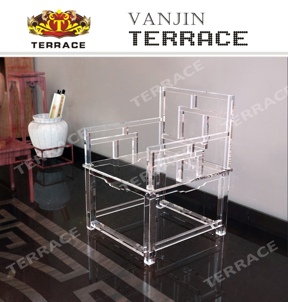 Clear Acrylic Empire Chinese Chair Lucite Arm Chairs Arm Chair