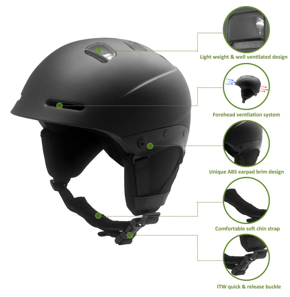 Unisex adult alpine skiing helmet 16