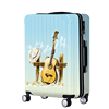 ultra light guitar stylish ABS PC trolley luggage with custom print
