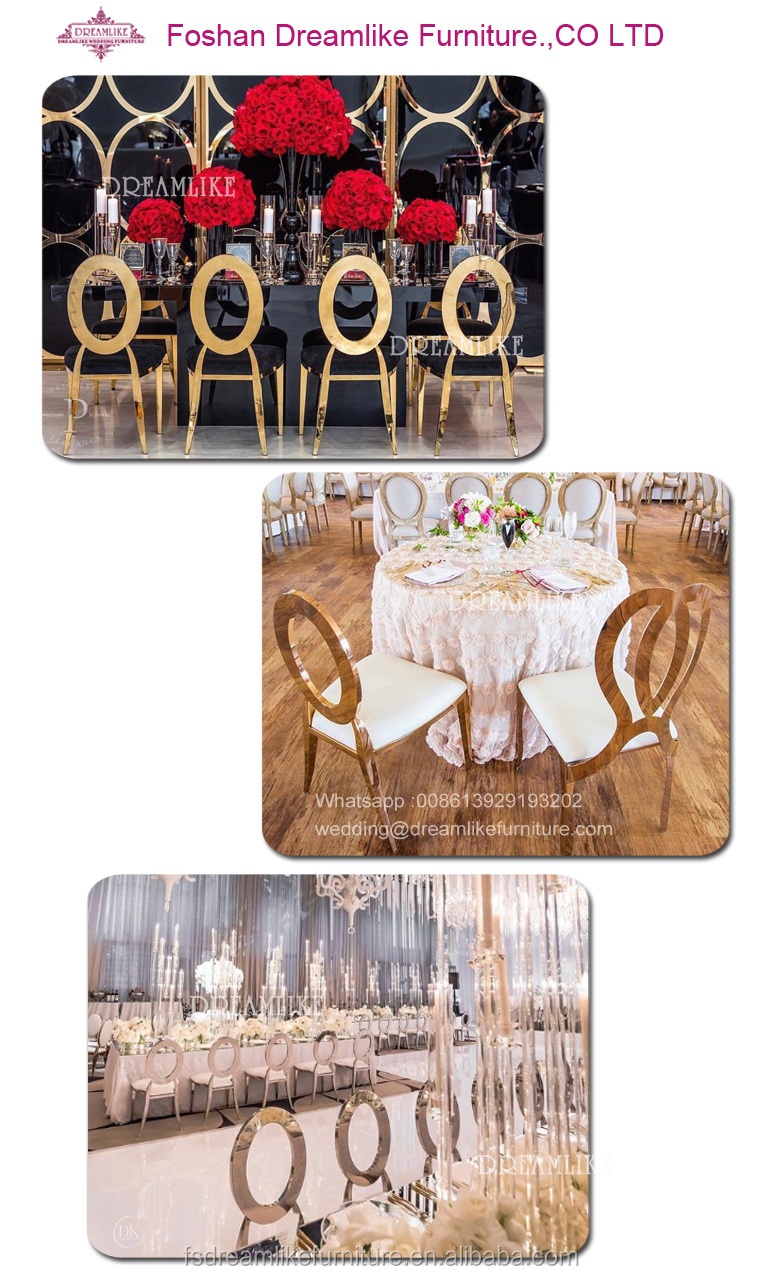 modern stainless steel frame pu leather chairs for banquet dining room