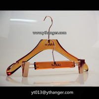 CY-64 Acrylic plastic clothes hangers clothespin hanger