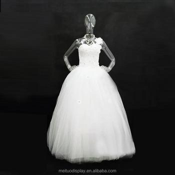 Plastic Clear Wedding Dress Female Full Body Mannequin
