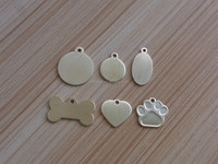 blank pet tags wholesale stainless steel, customize paws dog tag