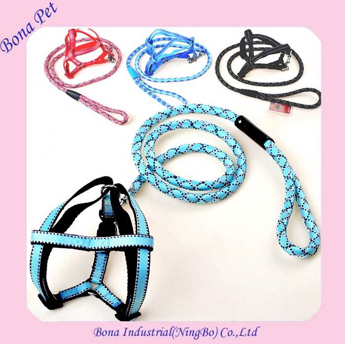 Best Sellers Round Nylon Braid Dog Leash and Collar Dog Harness