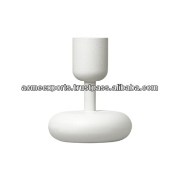 White Small Metal Candle Holders Parts
