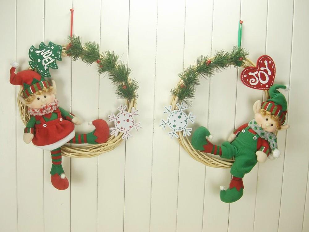 2016 Nuevo Producto Navidad Guirnalda Navidad Elf Pone En La Corona - Guirnalda-navidad