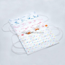 Disposable children face mask with cartoon printing