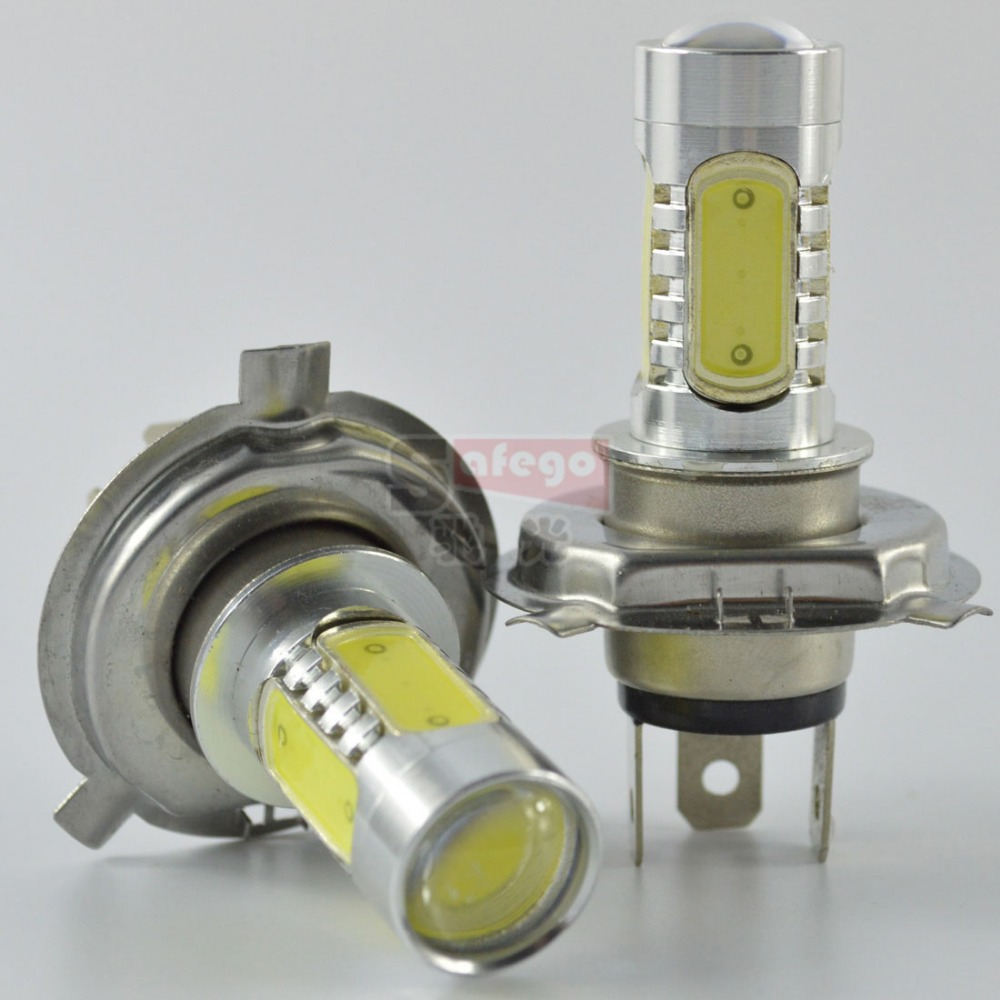 2pcs led lamp h4 led headlight h4 power led dc 12v h4 fog light lamp with len light bulbs h4 360