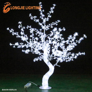 648 led 1.5m high white led crystal tree/plastic dropping led lighted cherry blossom tree