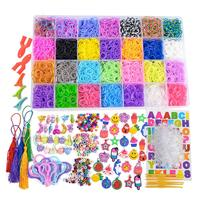 Amazon DIY loom rubber bands kit, colorful loom bands kit, Loom kits 28 colors