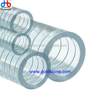 Clear PVC/plastic wall Steel Wire Reinforced layer Suction water hose pipe