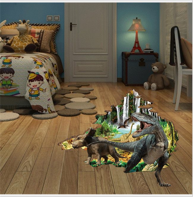 Bedroom Art Supplies: Living Room Bathroom Floor Sticker / 3D Backdrop