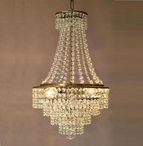 Home Lighting Chandelier Antique French Vintage Crystal Lamp Old Pendant