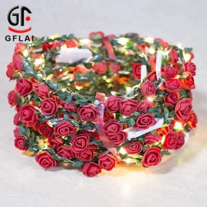 Novelty Products Colorful Flashing Spring Flower Wreath, Light Up Led Flower Crown Party And Event