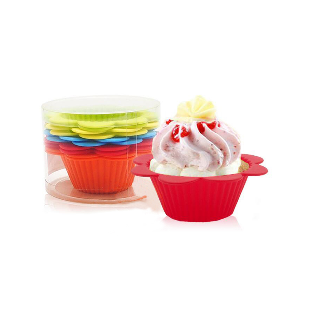 WB-FGBS1027 DIY cute custom cup cake mould silicone baking mould/tart pan