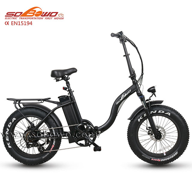Sobowo SF2 powerful fat tire 48V 750w step through folding electric <strong>bike</strong>