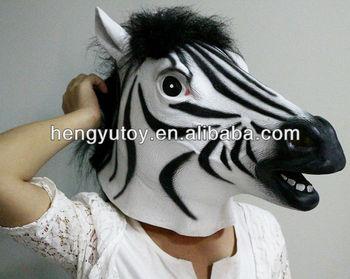 Creepy Zebra Head Mask Deluxe Quality Adult Full Face Latex Carnival  Costume Animal - Buy Carnival Costume Animal,Carnival Costume  Animal,Carnival
