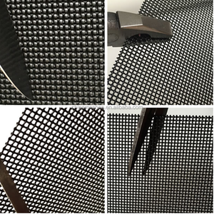 China stainless steel security screen /stainless steel wire mesh for window & door 0.8mm x 11 mesh powder coated