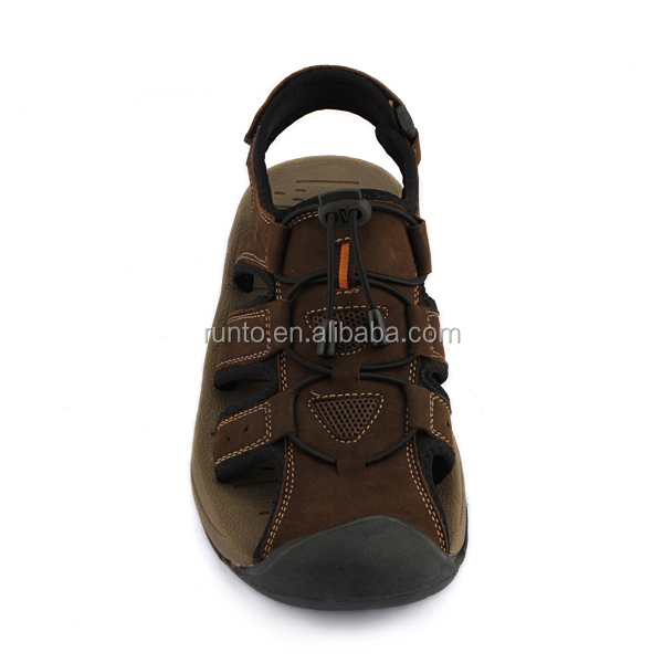 High quality handmade leather sandals summer fashion casual sandals nubuck leather shoes China flat sandal for men