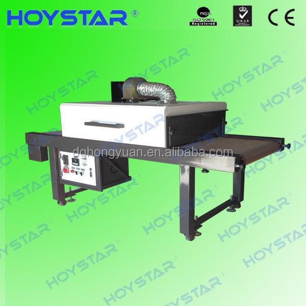 Infrared forced air conveyor dryer machine