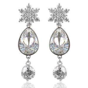 93350 xuping jewelry Crystals from Swarovski, imitative diamond gold 925 sterling silver color fashion crystal wedding earrings