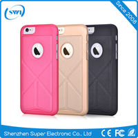 Free sample Vouni new design leather case for iphone 6 6S,stand case for iphone 6 6S phone accessories