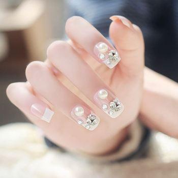 Acrylic Full Artificial Nails Nail Tip Designs Wholesale 24 Pcs